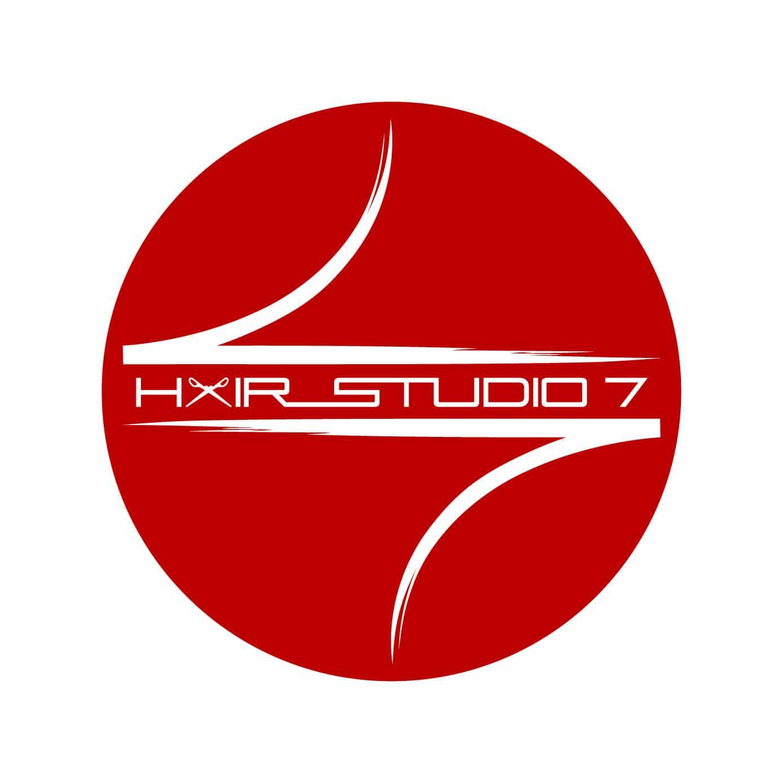 Hair Studio 7 Logo by Shaun M Brown. Hair Studio 7 is a great local hair salon in Chico California.