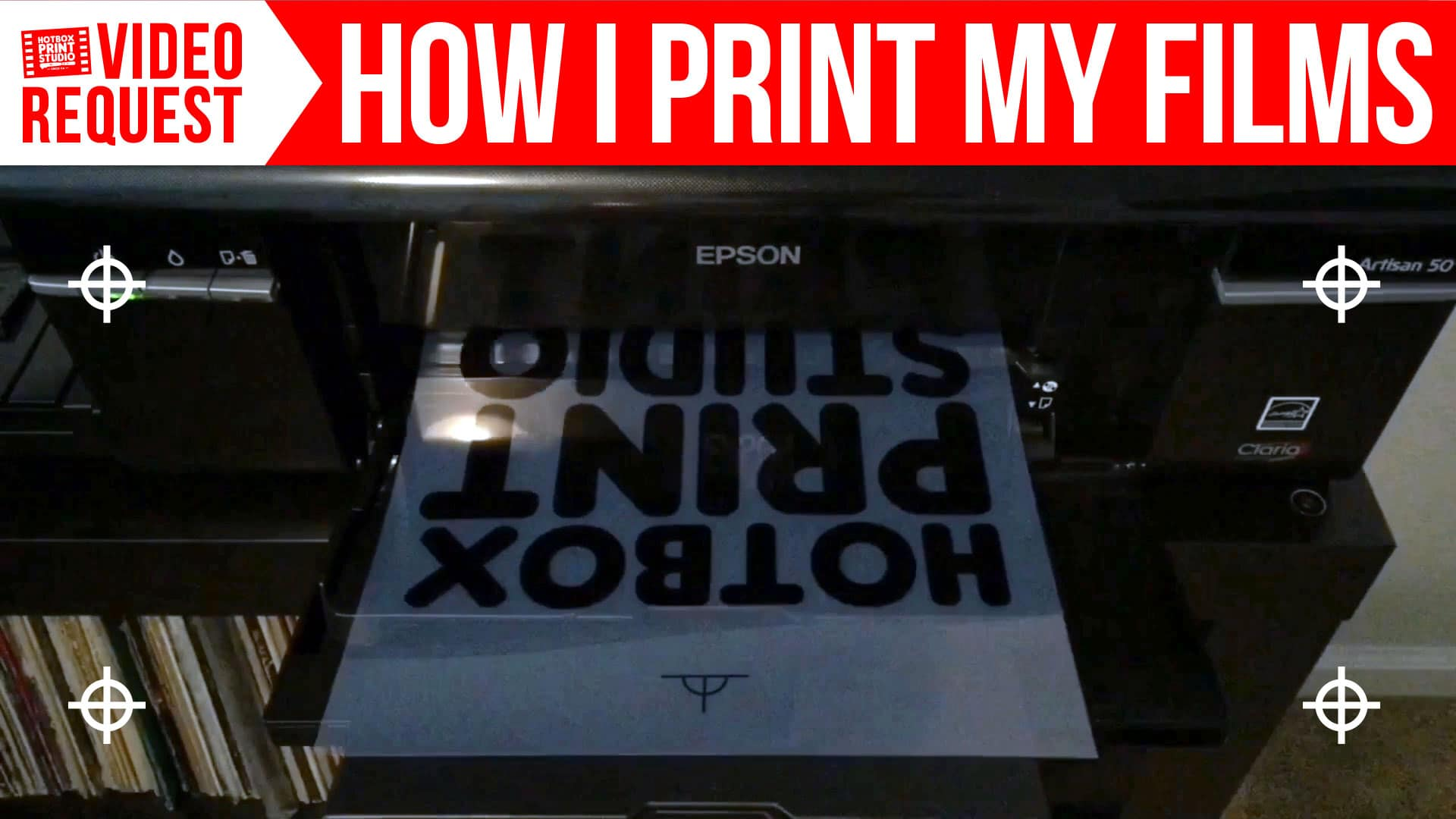 Video Request: How I Print My Films by Hotbox Print Studio - How to get darker film transparencies for screen printing.
